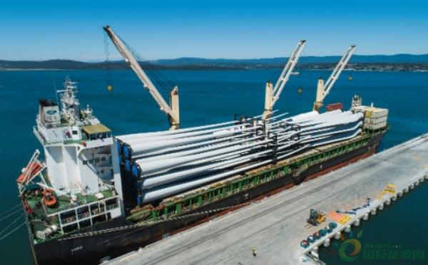 澳大利亚牧牛山风电项目首批风机设备到