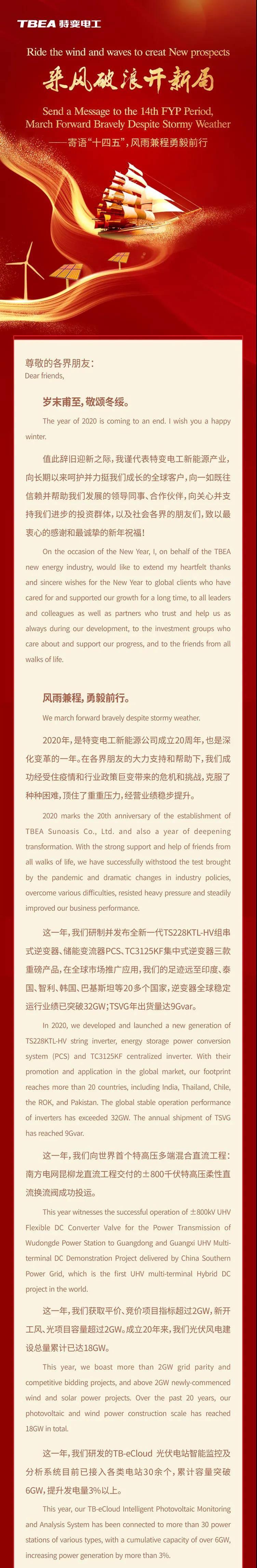 特变电工新能源总经理张建新2021新年致